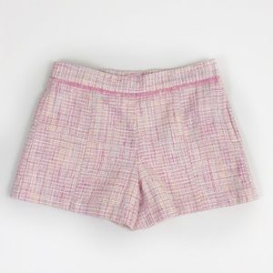 Janie and Jack pink tweed shorts 12